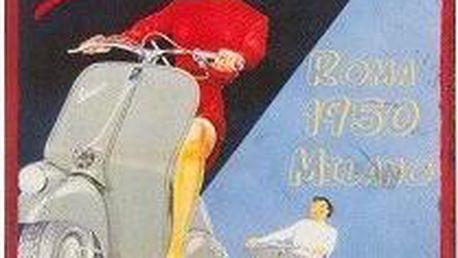 Kovová cedule Vespa, 28x22 cm