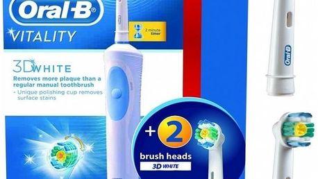 Elektrický zubní kartáček Oral-B VITALITY 3DWhite + 2 náhradní hlavice