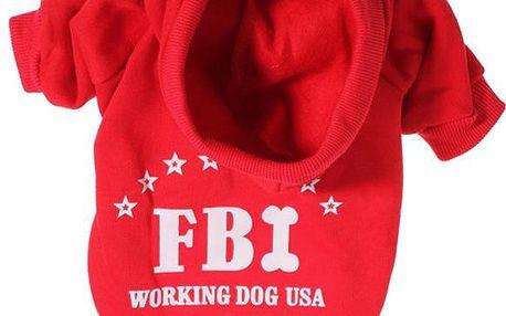 Obleček pro pejsky - mikina s nápisem FBI