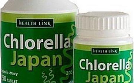 Chlorella Japan + kolagen 250 tablet pro podporu imunity a normálního stavu chrupavek a kostí