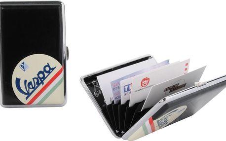 Pouzdro na kreditní karty/vizitky Vespa Black