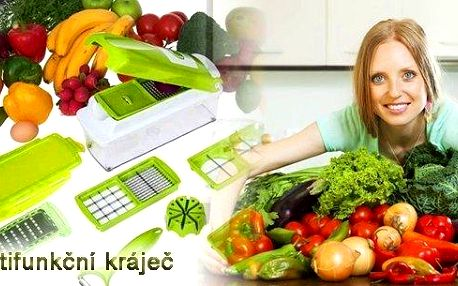 14ti dílný multifunkční kráječ na zeleninu.Skvělý kuchyňský pomocník.Kvalitní plast, čepele z nerez oceliza úžasnou cenu!