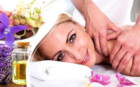 Masáž šíje, zad a ramen olejíčkem devatero kvítí s prohřátím či regenerační levandulová masáž v délce 40 minut v Plzni.