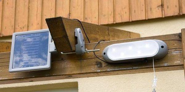 Zahradní LED Solární nástěnné svítidlo Garth 5 LED diod