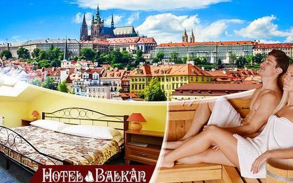 Romantická Praha! 2-4 dny pro 2 osoby ve 3* hotelu Balkán. Snídaně, 3chodová večeře, sauna, kulečník a lahev vína!