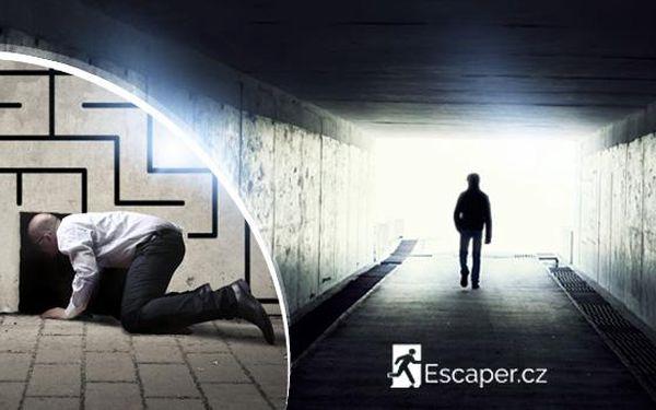 Úniková hra Escaper pro 2 až 5 hráčů na Praze 9 u metra B Hloubětín. Za 60 minut musíte uniknout z tajného sklepa!