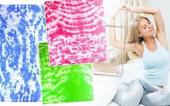 Aaryans bavlněné prostěradlo batika 90x200 cm nebo 180x200 cm. Předsezonní prodej nové kolekce batikovaných prostěradel všesti barvách se skvělou slevou! Využijte jedinečné nabídky unikátní kolekce prostěradel a osvěžte interiér pokojíčku či ložnice záři