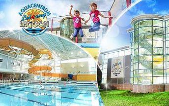DNES KONČÍ! Aquacentrum Lagoon Letňany! 5x bazén (2,5 h), 2x fitness + solárium a letní trampolíny!