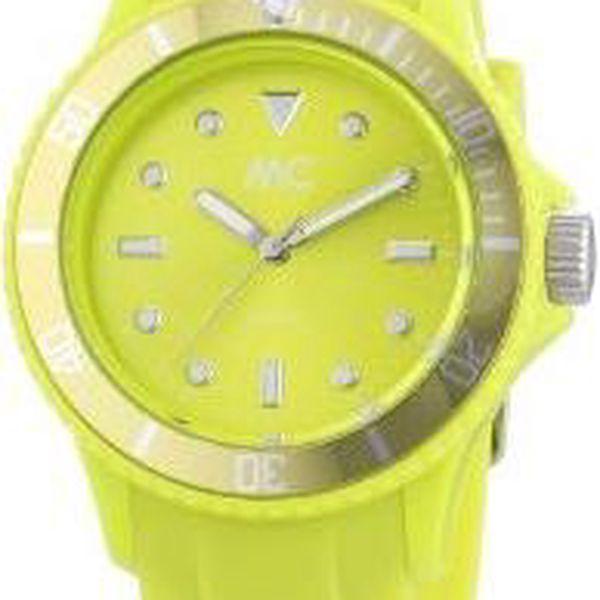 Zářivě barevné MC hodinky - limetkově zelené