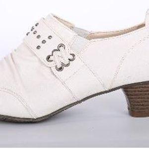 Elegantní dámské boty na podpatku WHITE
