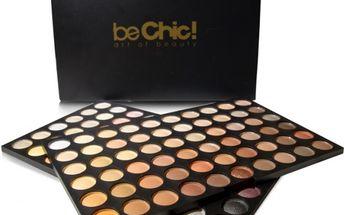 Be Chic! Professional Set Warm, paleta 60 očních stínů