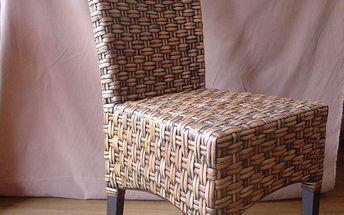 Ratanová židle s vysokým opěradlem ANYAM