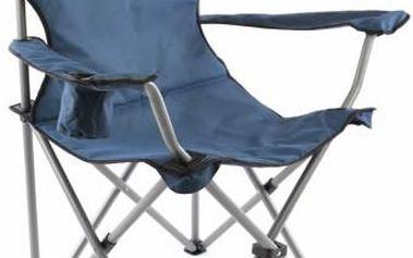 Skládací kempingová židle DIVERO XL - modrá