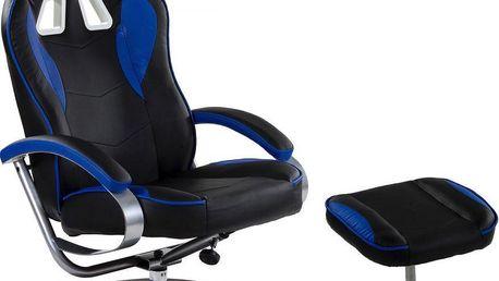 Kancelářská židle GT RELAX RACER, černá/modrá