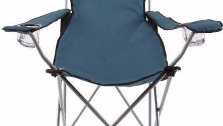 Skládací kempingová židle DIVERO s polštářkem - modrá