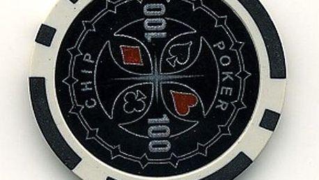 Kusový žeton design Ultimate Hodnota 100 - 50 ks