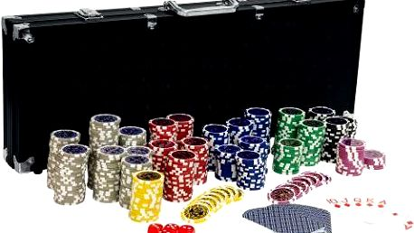 Pokerový set, 500 žetonů Ultimate black