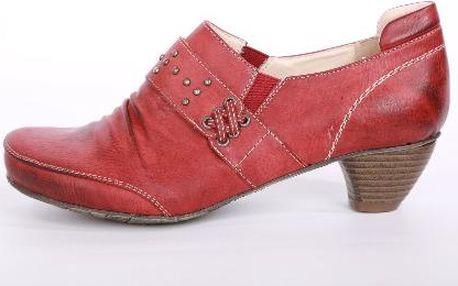 Elegantní dámské boty na podpatku RED
