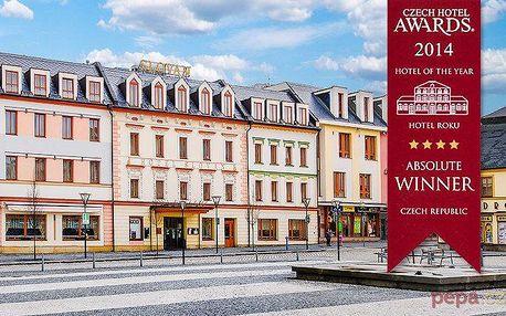 3denní gurmánský pobyt s degustačním menu v hotelu Slovan v Jeseníku pro 2 s polopenzí