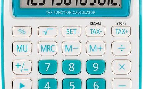Kalkulátor Sencor SEC 363T/BU modrá stolní, baterie+solární napájení