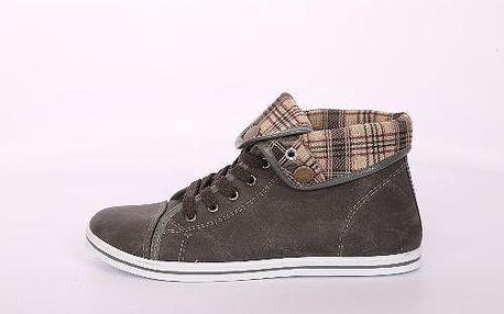 Dámské kontíkové boty hnědé