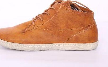 Dámské kontíkové boty světle hnědé