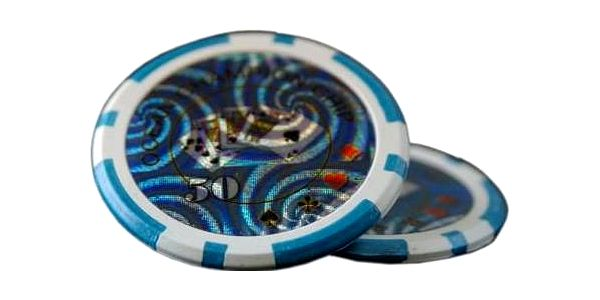Kusový žeton design Ocean Hodnota 50 - 50 ks