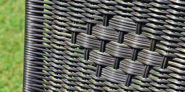 Garthen 35216 Zahradní balkonový set skládací bistro stolek + dvě židle4