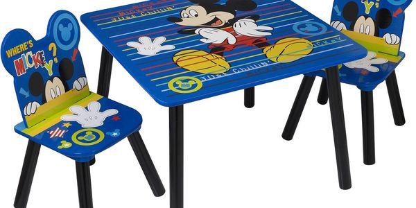 JNH Dětský stůl s židlemi Mickey Mouse