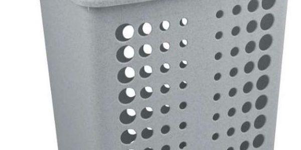 Koš na prádlo VICTORIA 60 l stříbrná CURVER2