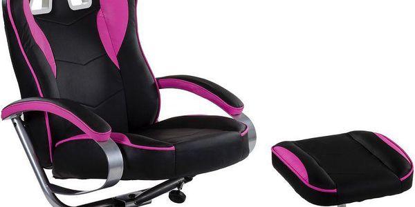 Kancelářská židle GT RELAX RACER - černá/růžová