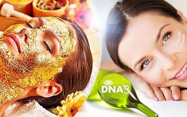 Omlazující kosmetické ošetření v délce 60 min. Zapracovaní kmenových buněk plazmovými toky + zlatá kolagen. maska.