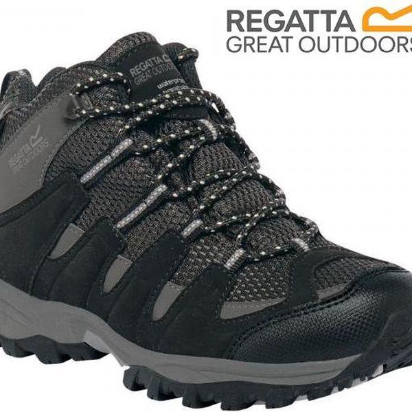 Dětské vysoké boty Regatta RKF340 GARSDALE MID Jnr Black/Granit 29
