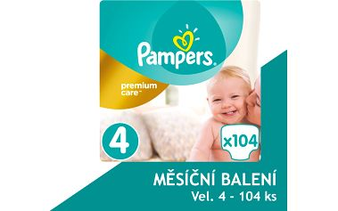 Pampers Plenky PremiumCare 4 Maxi - 104 ks
