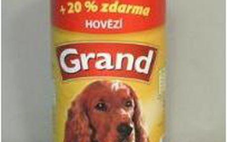 Konzerva pro psi Grand s hovězím masem 1300g