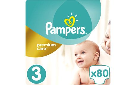 Pampers Plenky PremiumCare 3 Midi - 80 ks