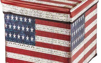 Skládací sedací box America s koženkovým povrchem