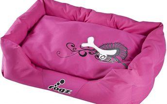 Velmi odolný psí pelíšek ROGZ SPICE PODZ Pink Bone 56 x 35 x 22cm