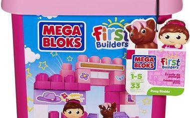 Mega Bloks Kostky v plastovém kbelíku Stáj