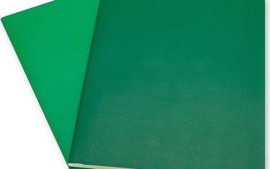 Sada 2 notesů Moleskine Emerald, linkované 25x19 cm