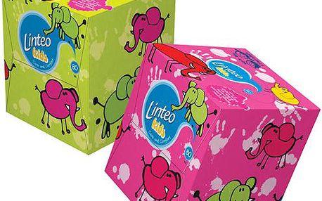 Linteo Kids Papírové kapesníky BOX 80 ks, bílé, 2-vrstvé