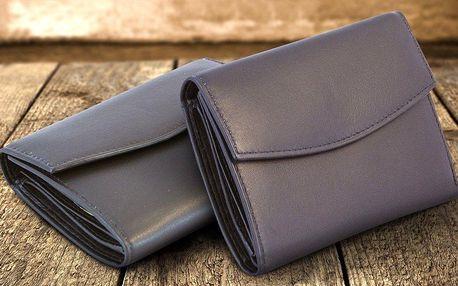 Dámská peněženka z pravé kůže v černé barvě