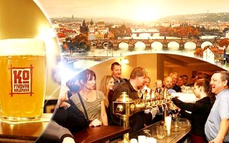 Pivovar Kolčavka Praha na 2 nebo 3 dny pro dva včetně polopenze, piva a prohlídky + dítě do 15 let zdarma!