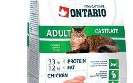 Krmivo pro kastrované kočky Ontario Adult Castrate 10 kg