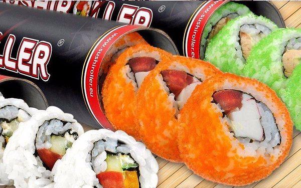 Čerstvé sushi s sebou v revolučním tubusu