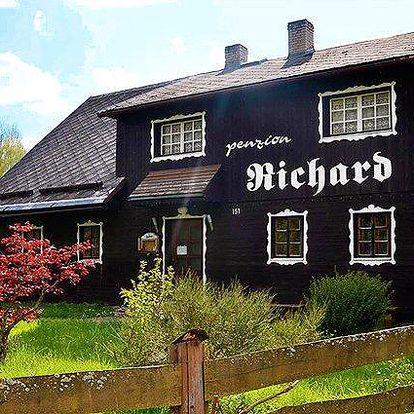 3–6denní pobyt v penzionu Richard v Jeseníkách se snídaněmi a saunou pro 2