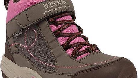 Dívčí kotníková obuv Regatta RKF402 TRAILSPACE MID Jr Coconut/Red 30
