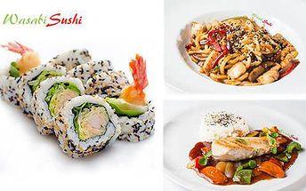 30% sleva na veškerá jídla a nápoje v restauraci Wasabi Sushi - držitel certifikátu Top Sushi 2014