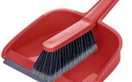 Tescoma smetáček s lopatkou CLEAN KIT, červená