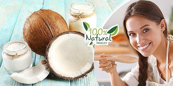 100% kokosový olej - 0,5l nebo 1l. Vhodný na smažení, pečení, do salátů i při péči o pokožku.